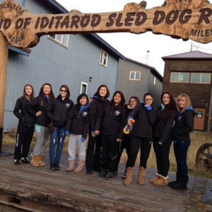 For a volleyball tournament, we took a trip down to Nome during my senior year of high school.